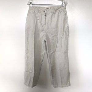 Eddie Bauer Size 16 Womens Pants Khaki Chino High